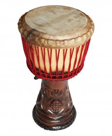 Djembe from hard wood Palisander – 13 inches