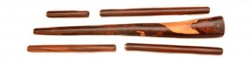 Multiple Drone Didgeridoo from Palisander wood with 4 Removable screw Mouthpieces – D,C#,C,B
